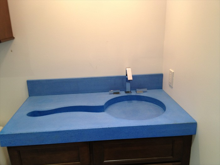 2 of 38    |    Fancy Kid's Bath - Polished Concrete Sink