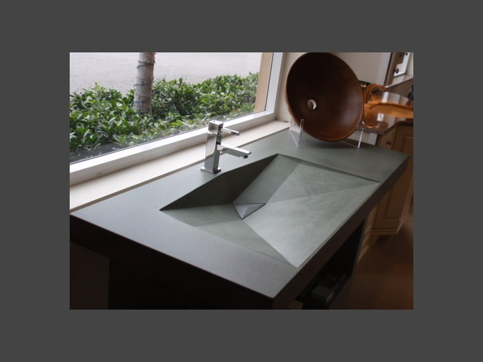 3 of 38    |    Contemporary Precast Concrete Sink - Original