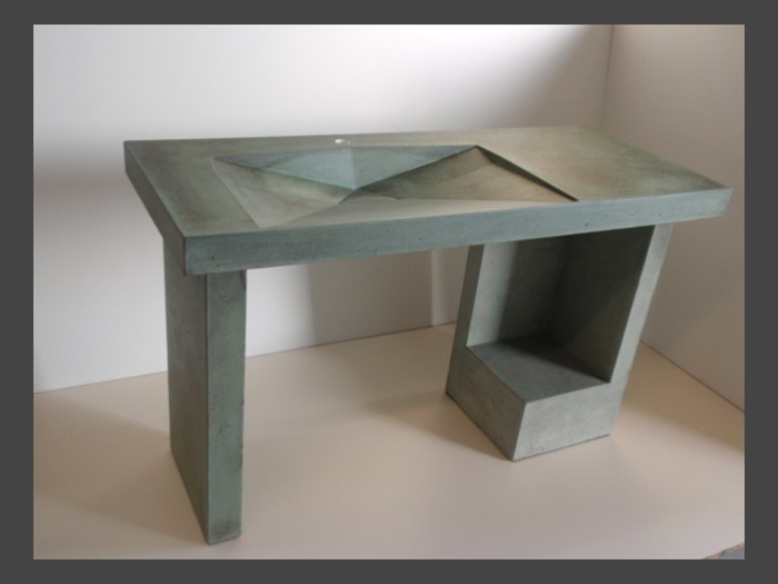 4 of 38    |    Pedestal Concrete Sink - Original Saeed Design