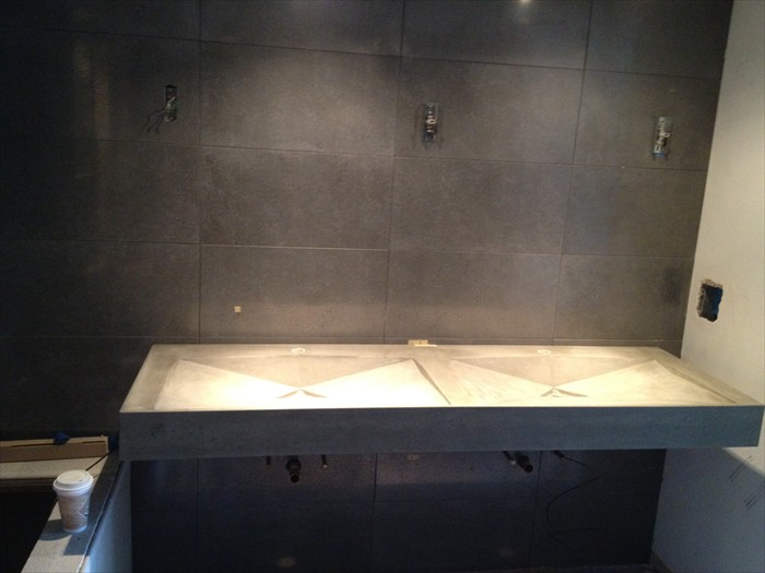 12 of 38    |    Luxury Bath - Double Concrete Sink