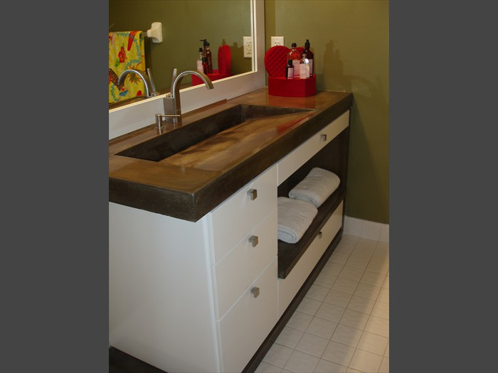 14 of 38    |    Remodeled Bath - Concrete Vanity