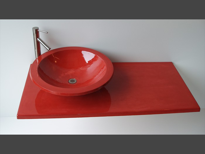 16 of 38    |    Precast Concrete Vanity Top - Vessel Sink