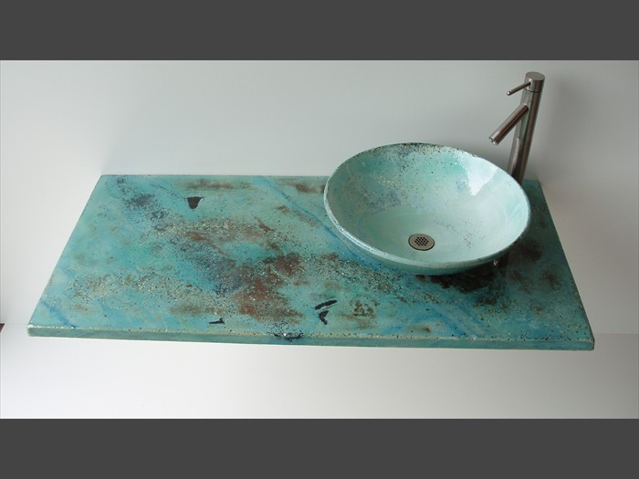 17 of 38    |    Concrete Countertop Sink - Granite Look