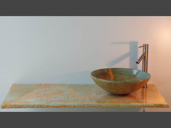 22 of 38    |    Shrinkage Design - Concrete Vaanity Top - Vessel Sink