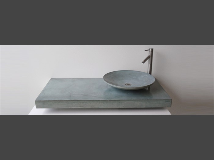 23 of 38    |    Gray Concrete Bath Countertop