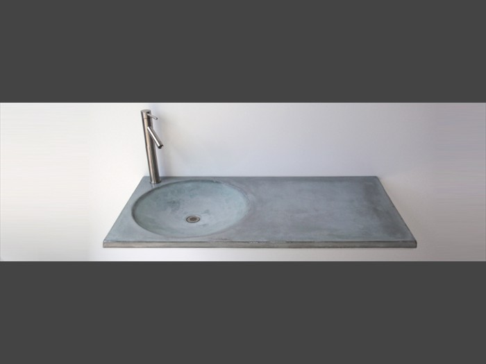 24 of 38    |    Gray Bathroom Countertop - Indented Sink