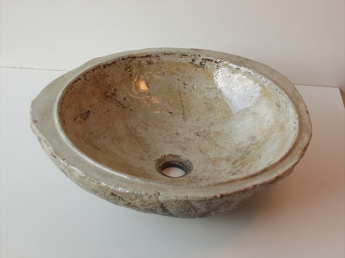 31 of 38    |    Handcrafted Vessel Sink - Integrated Leaf Fossil