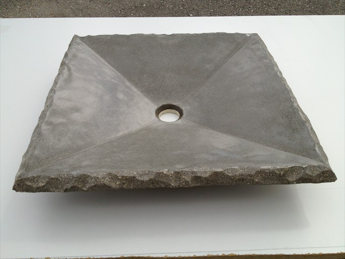 35 of 38    |    Concrete Square Sink Split Granite Countertop